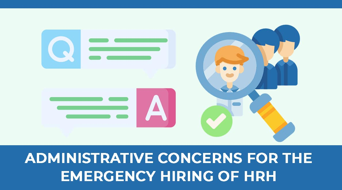 Administrative Concerns for the Emergency Hiring of Human Resources for Health